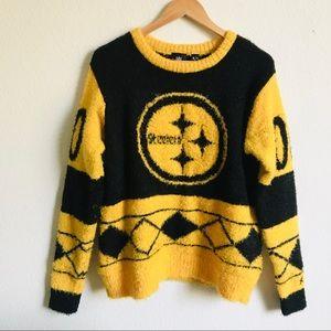 Steelers NFL Fuzzy Jersey Sweater medium
